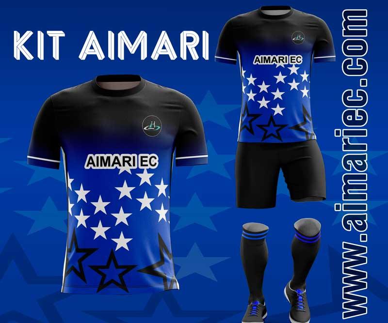 camiseta de fútbol color negro