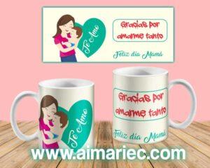 Plantilla para tazas día de las madres