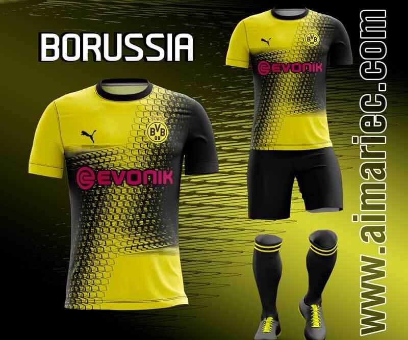 camiseta borussia dortmund 2020 2021 fantasy sublimado