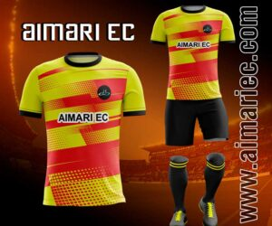 uniforme deportivo sublimado 2020 amarillo y rojo