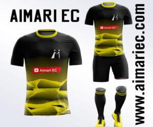 uniforme deportivo sublimado 2020 color amarillo y negro