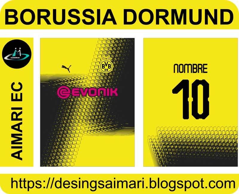 camiseta borussia dortmund 2020 fantasy sublimada