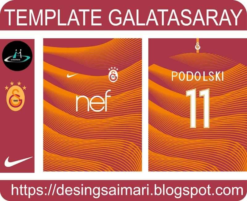 vector para sublimar camiseta galatasaray 2020