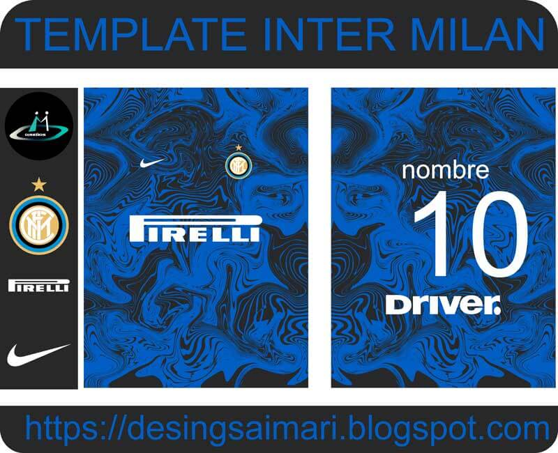 descarga plantilla vector de camiseta inter de milán 2020 para sublimar