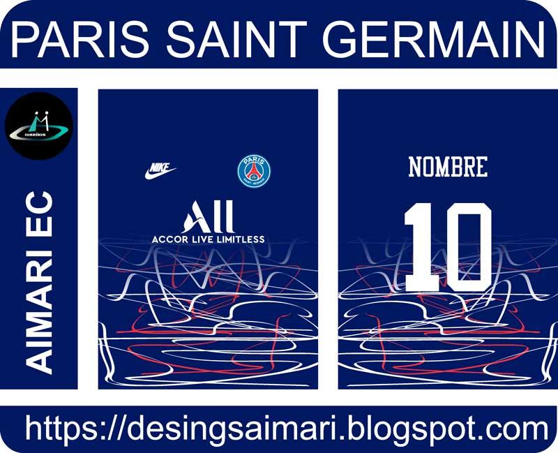 vector camiseta paris saint germain 2020