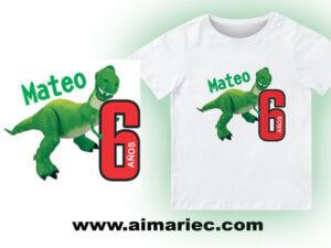 Camiseta de Dinosaurio para cumpleaños