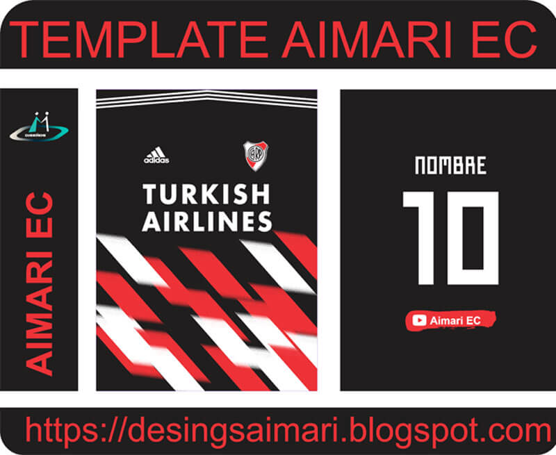 Descarga plantilla para sublimar camiseta River Plate
