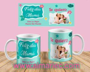 plantilla taza eres la mejor mamá del mundo