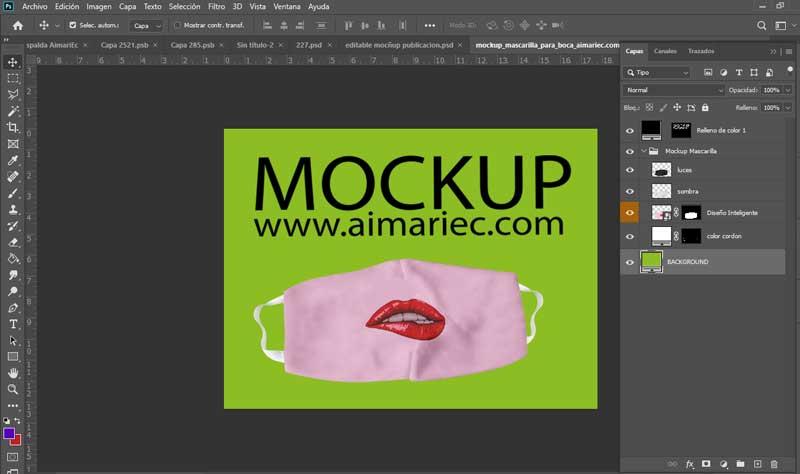 mockup macarilla cubrebocas para photoshop free