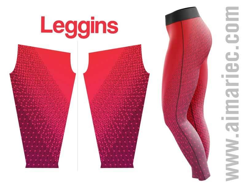 leggins de color rosado con negro para mujer