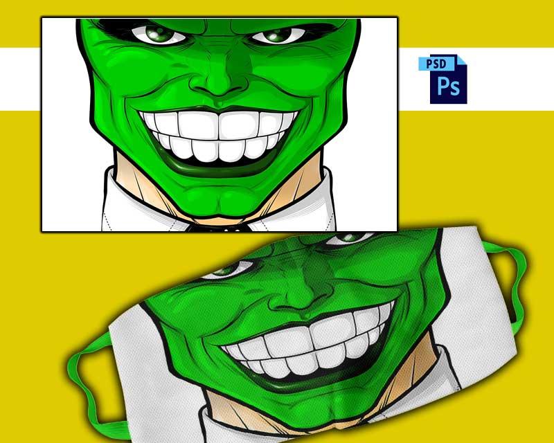 plantilla para sublimar cubrebocas sonrisa 01