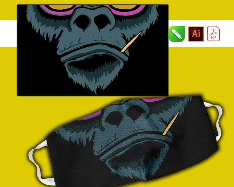 plantillas para sublimar tapa bocas monkey 2