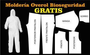 moldes patrones para overol traje de bioseguridad