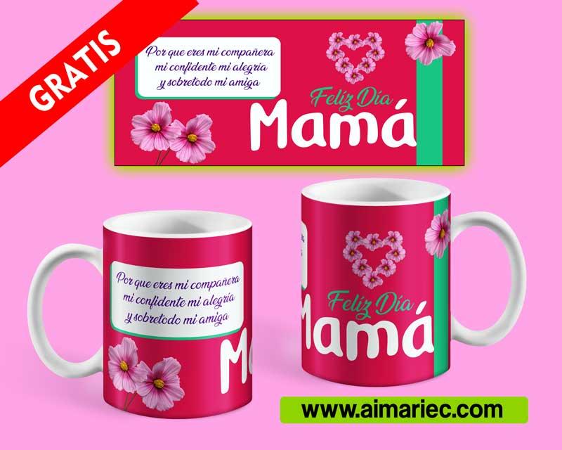Diseños para taza feliz día mamá