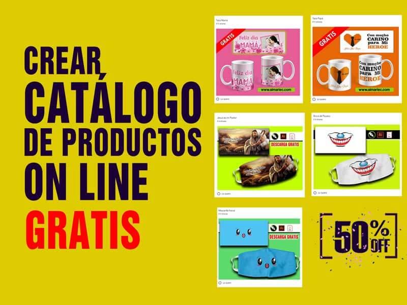 Crea GRATIS catálogo de productos on line