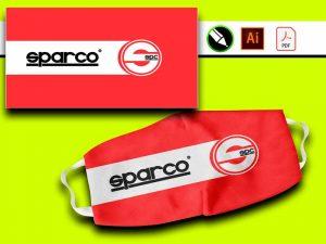 Diseño Sparco Vector para sublimar nascarillas