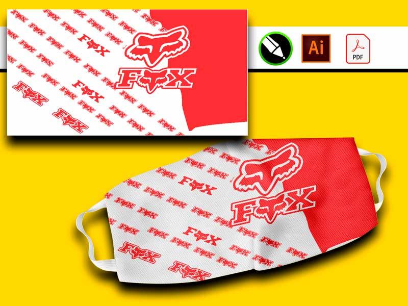 plantillas gratis para sublimar mascarillas vector ilustración fox pdf coreldraw illustradtor
