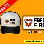Plantilla free fire heroico para gorra sublimación