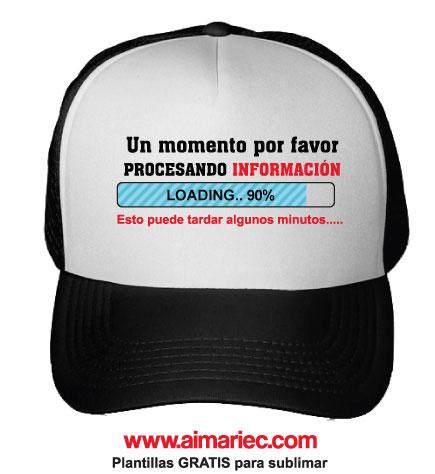 Gorra sublimada personalizada con frases