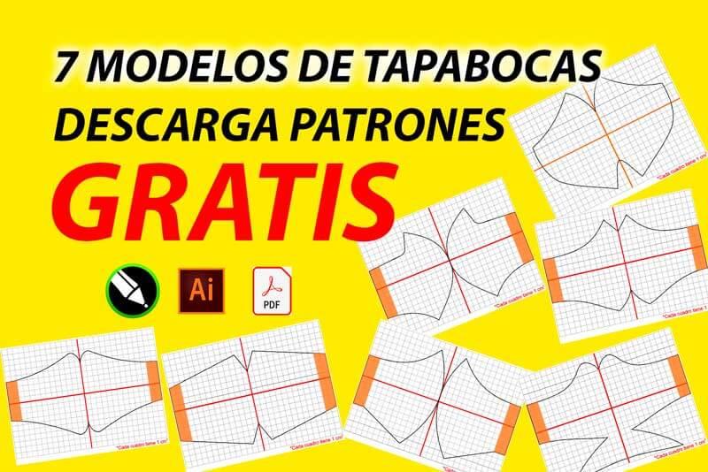 7 Moldes y Patrones para Mascarillas Tapabocas y mascarillas PDF descargar gratis