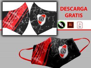 Tapabocas del River Plate diseño sublimado