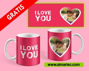 I love you | Plantilla para sublimar taza gratis