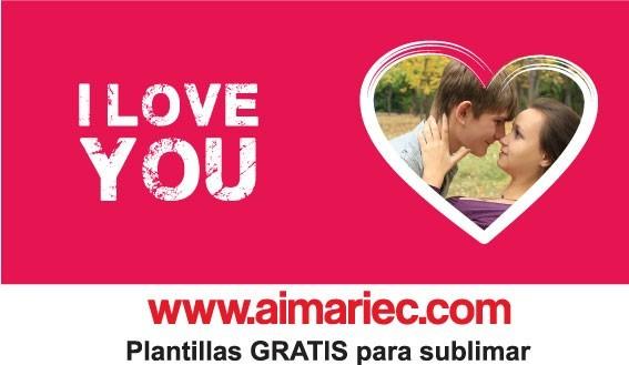 I love you | Plantilla para sublimar taza