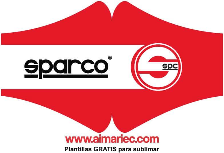 Logo Sparco vector para sublimar mascarillas