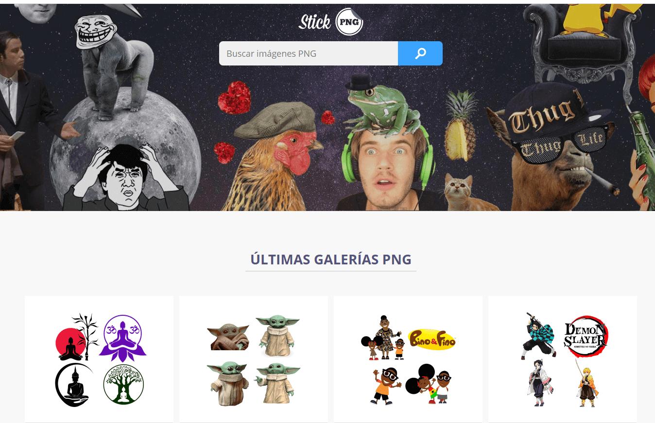 stickpng.com es un sitio web para descargar imagenes png gratis