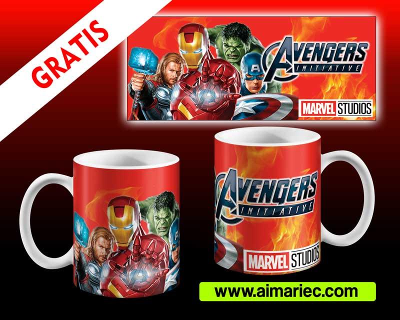 Avengers plantillas para tazas End Game