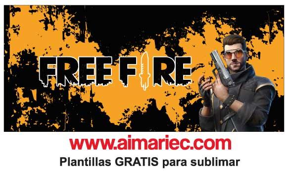 plantilla de taza free fire