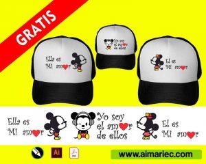 Diseño para sublimar gorras mickey mouse