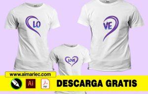 Camisetas personalizadas para amor en familia