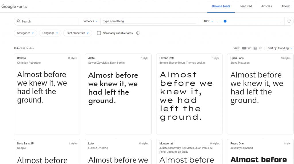 Paginas para descargar tipografías gratis