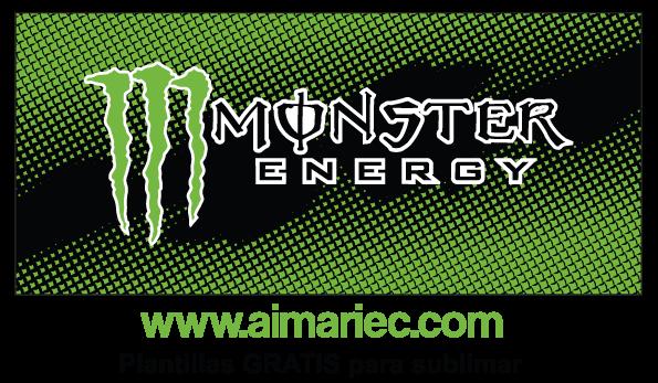 plantilla para sublimar taza Monster Energy