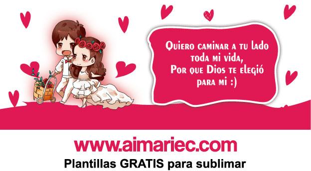 plantilla gratis Taza sublimada para pareja de novios