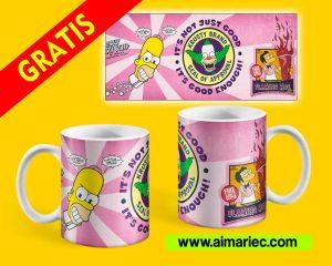 Plantilla de taza de los simpson para descargar gratis
