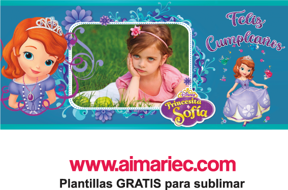 plantilla para taza de princesa Sofía, descargar gratis