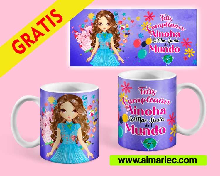 Plantilla para photoshop taza para la niña más linda del mundo gratis