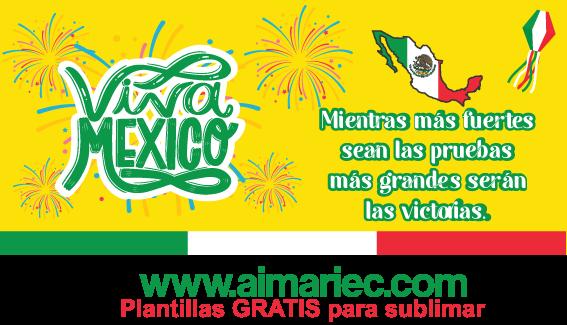 Plantilla para sublimar tazas de fiestas de México