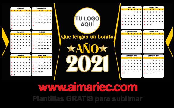 plantilla para sublimar taza con calendario 2021