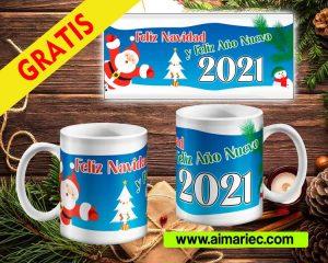 plantillas para tazas navidad y fin de año, descargar gratis