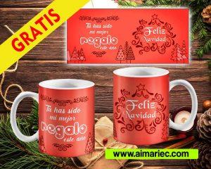 plantilla taza para navidad, diseños personalizados