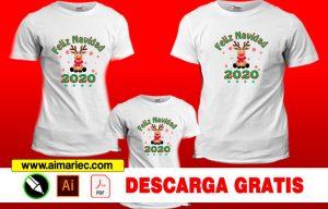 Camisetas para navidad Reno 2020 sublimadas