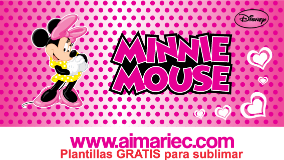 plantilla de taza minnie mouse disney para sublimar