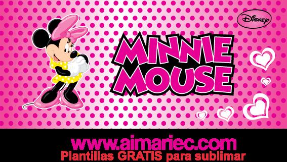 plantilla de taza minnie mouse disney para sublimar