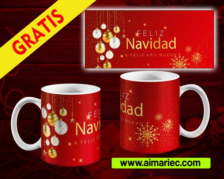 plantillas para sublimar tazas navideñas