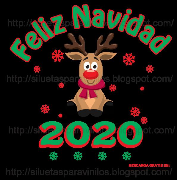 vector reno de navidad para descargar gratis png
