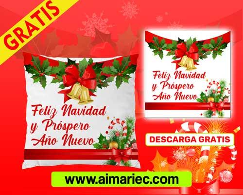 Plantilla para cojin de navidad y año nuevo