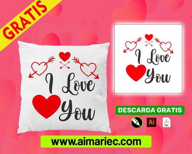 Plantilla-cojines-i-love-you-para -san-valentín